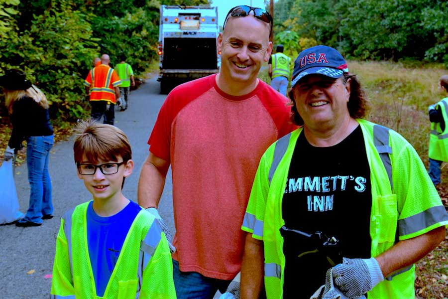 photos from Old Bridge Militia Foundation Community Clean up 2016